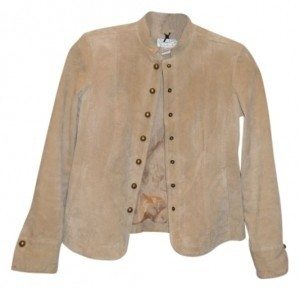 Live A Little Beige Leather Jacket