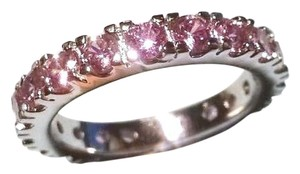 Other Size 8 10Kt Pink Sapphire Lady's White Gold Filled Wedding