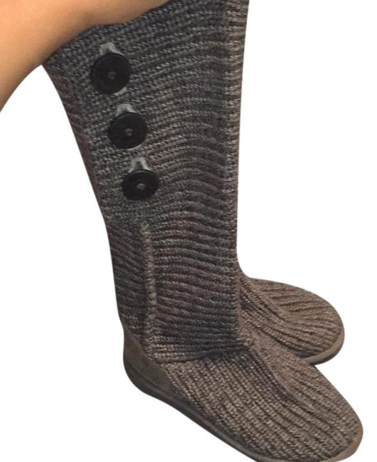 Item - Grey Knitted Boots/Booties Size US 7 Regular (M, B)