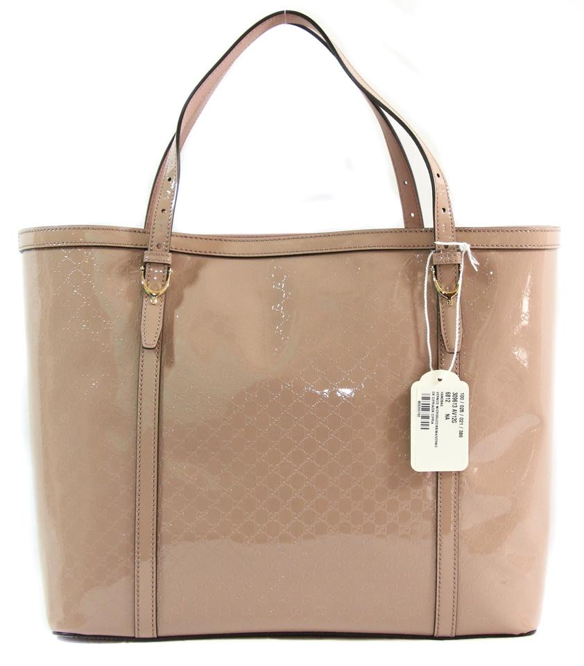 342aee435dcf Gucci 309613 Nice Microguccissima Handbag Pink Patent Leather Tote ...
