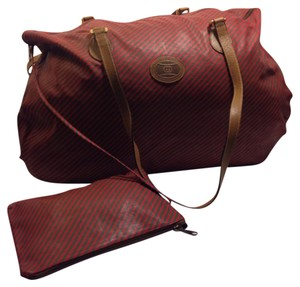 Gucci Red / Brown Travel Bag