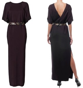 By Malene Birger Belted Maxi Evening Up V Back Dress