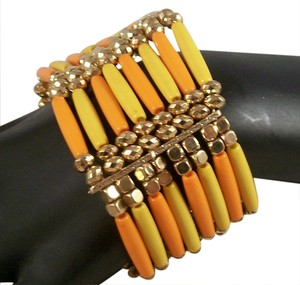 Bogot ORANGE & YELLOW STRETCH BRACELET