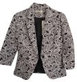 Sunny Girl Suit Business Chic Jacket Black/White Paisley Blazer