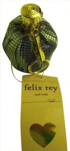 Felix Rey Expandable Flapper Mesh Coin or Lipstick Pouch Mirrored Bottom