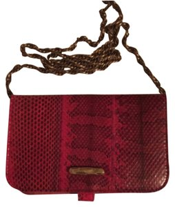 Diane von Furstenberg Deep Red Clutch