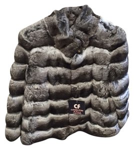 Chinchilla fur Size 40 New Fur Coat