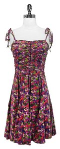 Marc Jacobs short dress Multi Silk Print Ruched on Tradesy