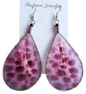 Other Pink Teardrop Earrings