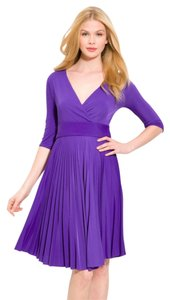 BCBGMAXAZRIA Cruz Mid Sleeve Purple Dress