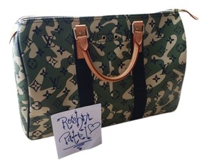 Louis Vuitton Limited Edition Satchel in Army, Green, Camouflage, Camo