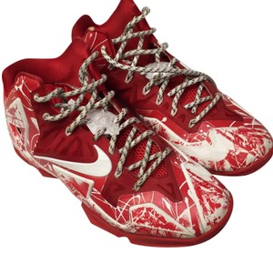 Nike id Mens Lebron customized Red/white Athletic