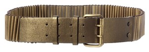 Céline BRASS LEATHER AND BEADED AMMO STYLE BELT