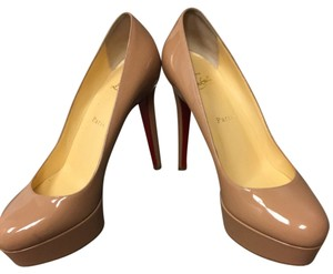 Christian Louboutin Tan/nude Platforms