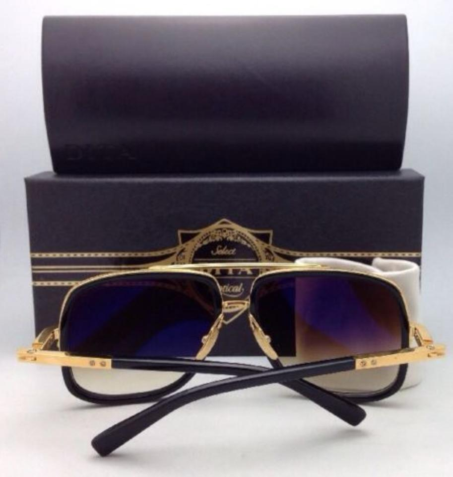 5723d10202cc Dita Mach One Drx-2030b-59-17 Black   18k Gold W  Brown Fade New W   Gradient Lenses Sunglasses
