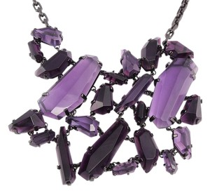 Burberry PURPLE CRYSTAL CLUSTER STATEMENT NECKLACE