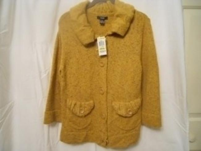 Preload https://item2.tradesy.com/images/alfani-brushed-gold-button-up-sweater-cardigan-size-8-m-101151-0-0.jpg?width=400&height=650
