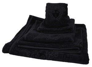 Versace Versace Home Collection 5 Piece Black Cotton Towel Set