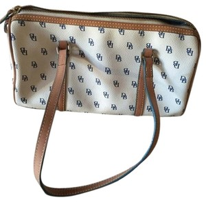 Dooney & Bourke Tote in White and blue letters