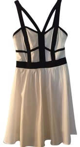 Gianni Bini short dress Black, White on Tradesy
