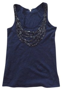 J.Crew Sequins Top Navy blue