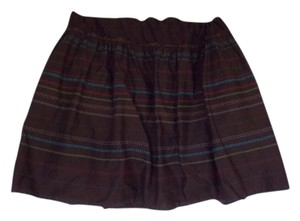 Maurices Pattern Juniors Plus Skirt Brown