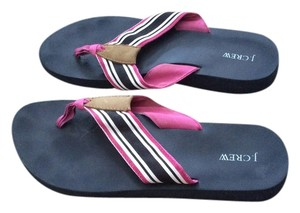 J.Crew Striped Navy stripe Sandals