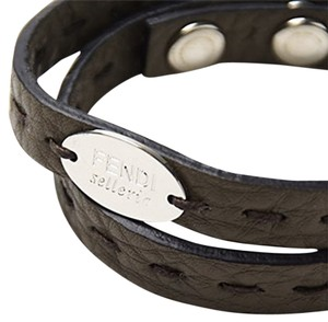 e83cfe3e47c5 Fendi Brown Selleria Leather Dark Unisex Bracelet - Tradesy