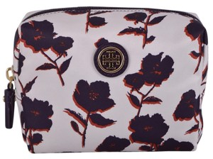 Tory Burch NEW Tory Burch Printed Nylon Posies Iris Small Cosmetic Makeup Case Bag