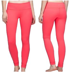 Lululemon New With Tags Lululemon Wunder Under Pant Leggings Size 8 Electric Coral