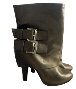 Short Silver Buckles black Boots