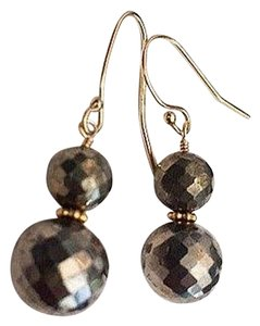 Independent Clothing Co. Double Pyrite Ball Earrings