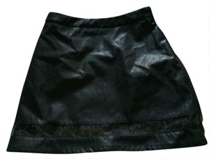 Forever 21 Faux Leather Leather 21 F21 Leather Party Partying Club Clubbing Edgy Sexy Dance Dancing Rockstar Mini Skirt Black