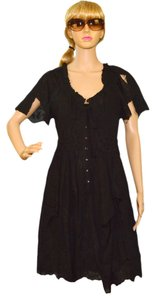 black cotton Maxi Dress by Nanette Lepore