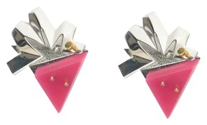 Balenciaga Balenciaga silver and pink earrings