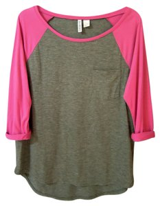 H&M T Shirt pink & Gray
