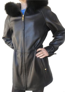 Ellen Tracy BLACK Leather Jacket