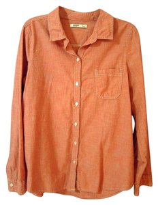 Old Navy Button Down Shirt light red