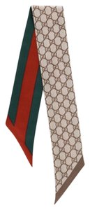 Gucci Gucci Red/Green & Gucci Logo print Head/neck Tie