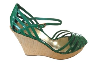 Bebe Green Wedges