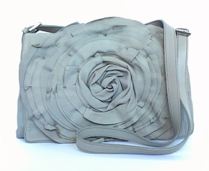 Valentino Gray Cross-body Rose Rose Petal Shoulder Bag
