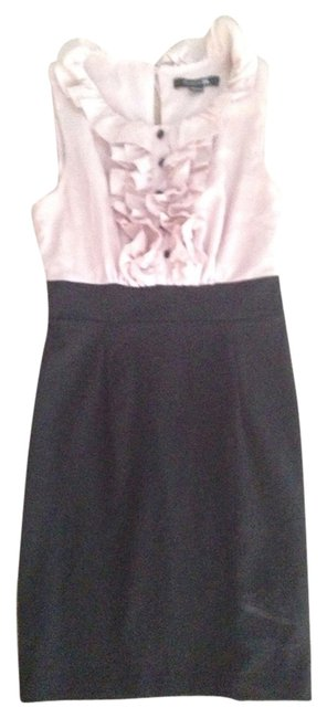 Forever 21 Black Pink Sleeveless Ruffle Fitted Dress