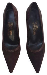 Salvatore Ferragamo Ferragamo Classic Low Heel Ferragamo Heels Work Brown Pumps