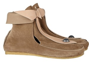 Isabel Marant Leather Edgy Festival Bootie Mushroom Boots