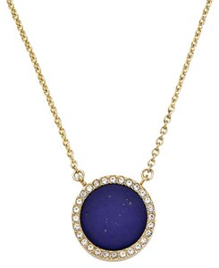 Michael Kors NEW WITH TAGS! Michael Kors Circle Lapis Blue & Goldtone Necklace