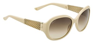 Gucci Limited Edition Gucci Sunglasses for Women Sale Ivory 18K Gold Plated Round Oversized Jackie O Sunglasses GG 3693