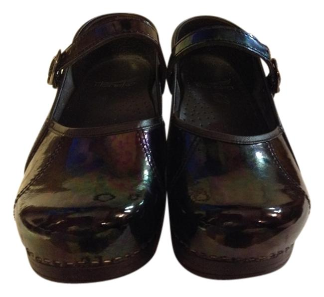 Item - Marbled Green and Purple Mules/Slides Size US 6 Regular (M, B)