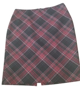 White House | Black Market Skirt Red, Black, White Plaid