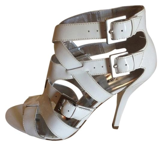 Marciano Leather White Patent Sandals