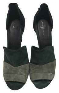 7 For All Mankind Green/Blue Platforms